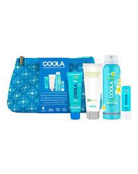 4 piece organic suncare travel set by coola