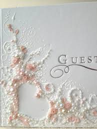 personalized wedding guestbook personalized wedding guest book guest book with pearls