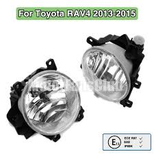 pair clear lens fog lamp lh rh light for drl toyota rav4 rav 4