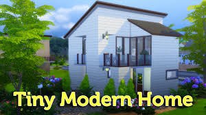 the sims 4 speed build tiny modern home youtube