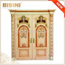 porte interieur en bois massif français style baroque feuille d u0027or intérieur double porte