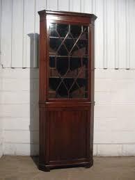 Tall Corner Display Cabinet Tall Antique Georgian Mahogany Astragal Glazed Full Height Corner
