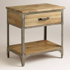 grey metal bedside table nightstands metal wood bedside table unique in and nightstand