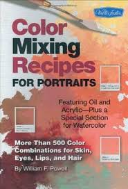 oil painting color mixing recipies by william f powell now