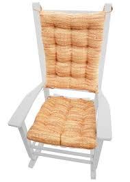 Home Decor Brisbane Brisbane Salsa Tweed Rocking Chair Cushions Foam Fill