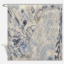 Nautical Shower Curtains Nautical Shower Curtains Cafepress