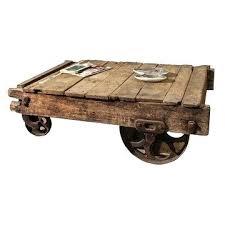 wooden cart coffee table artedu info