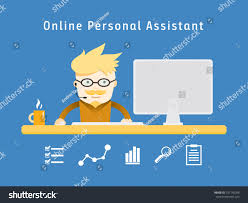 Work From Home Graphic Design Freelance Personal Online Assistant Design Character Stock Vector