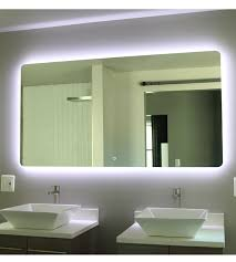 Led Backlit Bathroom Mirror Impressive Backlit Bathroom Mirror At Cabinet 48 Inch House