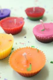 cupcake candles diy crayon cupcake candles