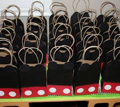 mickey mouse gift bags real party inspiration xavier s mickey mouse clubhouse birthday