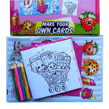 children s activities shopkins childrens make your own cards