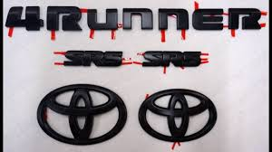 toyota lexus logo toyota 4runner emblem black out install youtube