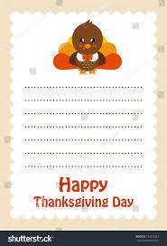 letter thanksgiving day turkey stock vector 724578367