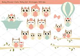 baby shower owls baby shower owls baby girl illustrations creative market