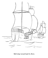 pilgrims thanksgiving coloring page mayflower and the