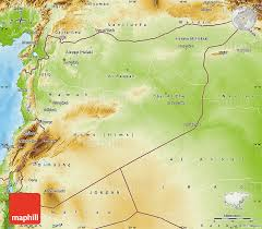 map of syria physical map of syria
