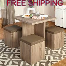 Space Saving Table And Chairs by Kitchen Nook Dining Set Space Saving Table 4 Chairs Storage