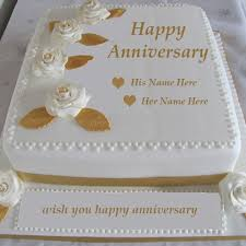anniversary cake name on wedding anniversary cake images