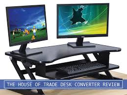 the house of trade adjustable sit to stand desk riser converter review