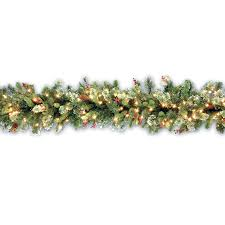 decorating outdoor lighted garland christmas reef pre lit garland