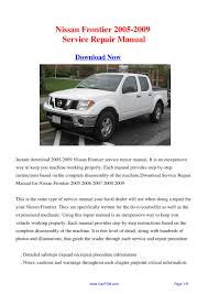 28 2005 nissan frontier service manual 114770 downloads by