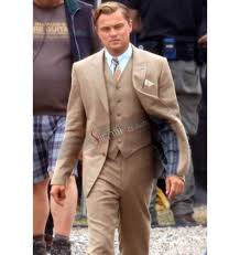 Leonardo Dicaprio Home by Great Gatsby Leonardo Dicaprio Brown Suit