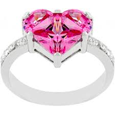 heart fashion rings images Sweetheart heart cocktail ring with oversized pink cz jpg