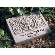 personalized garden stones memorial garden personalized celtic tree of