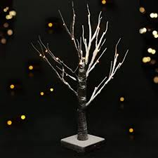 battery operated white christmas lights amazon com bright zeal 17 5 birch tree lights battery operated led