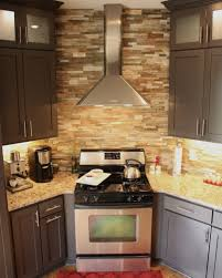 Stone Backsplashes For Kitchens Kitchen Kitchen Awesome Cabinets With Natural Stone Tile