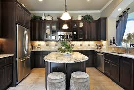 kitchens with dark cabinets kitchen awesome kitchen design with dark oak u shaped kitchen