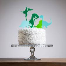 dinosaur cake topper mini dinosaurs party cake topper collection by funky laser