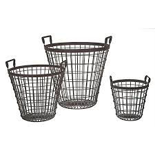 Shabby Chic Wire Baskets by 161 Best Wire Baskets Images On Pinterest Wire Baskets Bathroom