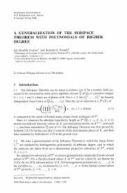 a generalization of the subspace theorem with polynomials of