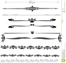 Decorative Line Clip Art Line Clipart Single Line Border Pencil And In Color Line Clipart