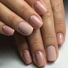 beige nails with rhinestones the best images bestartnails com
