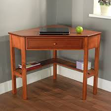 Small Wooden Writing Desk Space Saving Wooden Corner Writing Desk Suitable For Home Or
