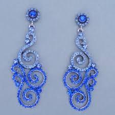 blue chandelier earrings beautiful chandelier earrings
