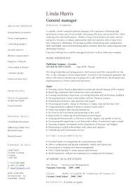 General Manager Resume Template Sample Hotel Resume Hotel General Manager Resume Sample Sample