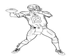 peyton manning coloring pages within inside glum me