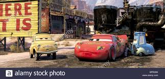 cars sarge and fillmore luigi lightning mcqueen u0026 guido cars 2006 stock photo royalty