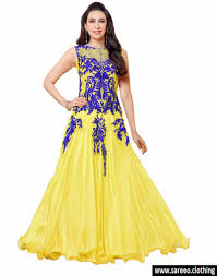 party wear gowns letest yellow georgette partywear gowns