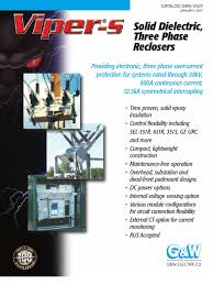 vipers recloser brochure insulator electricity electrical