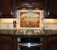 mural tiles for kitchen backsplash sunflower kitchen decor tile murals western backsplash from