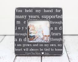 mom gift picture frame quote personalized for family from