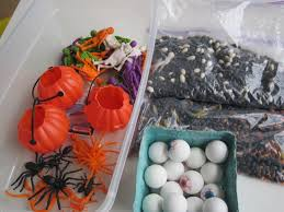 Halloween Hermit Crab by Halloween Sensory Tub For Multiple Ages No Time For Flash Cards