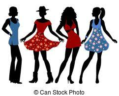drawings of fashion girls csp1228673 search clipart