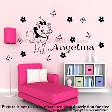 disney marie the cat wall decals kid name aristocats decal disney marie the cat wall decals personalized name aristocats black