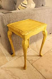 Yellow Side Table A Gorgeous Vintage Ornate Side Table In Annie Sloan English Yellow